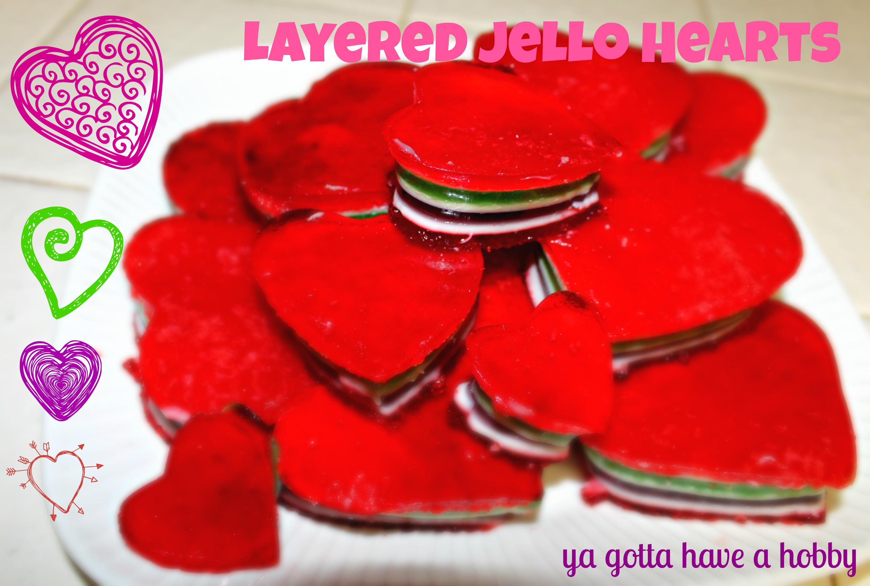 ... layer Jell-O treats. It looked fairly simple, so I thought I'd give